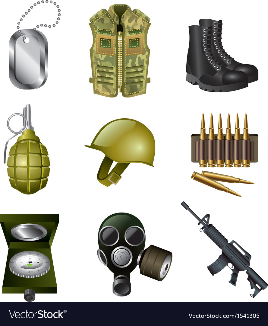 Icons army vector | Price: 3 Credit (USD $3)