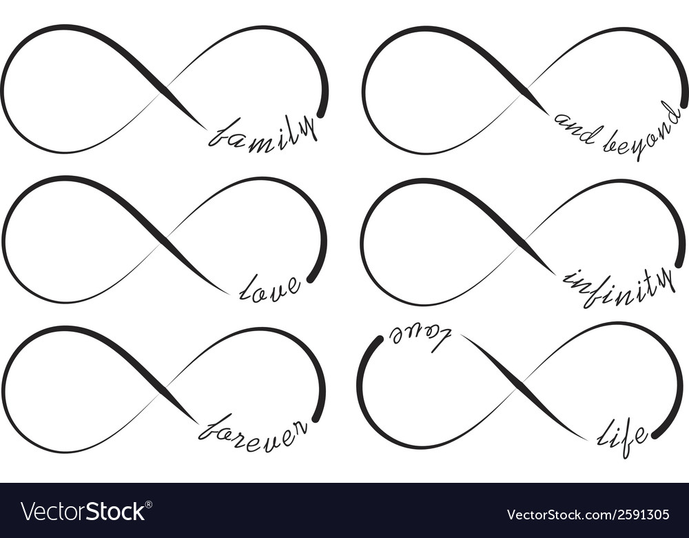 Infinity symbols vector | Price: 1 Credit (USD $1)
