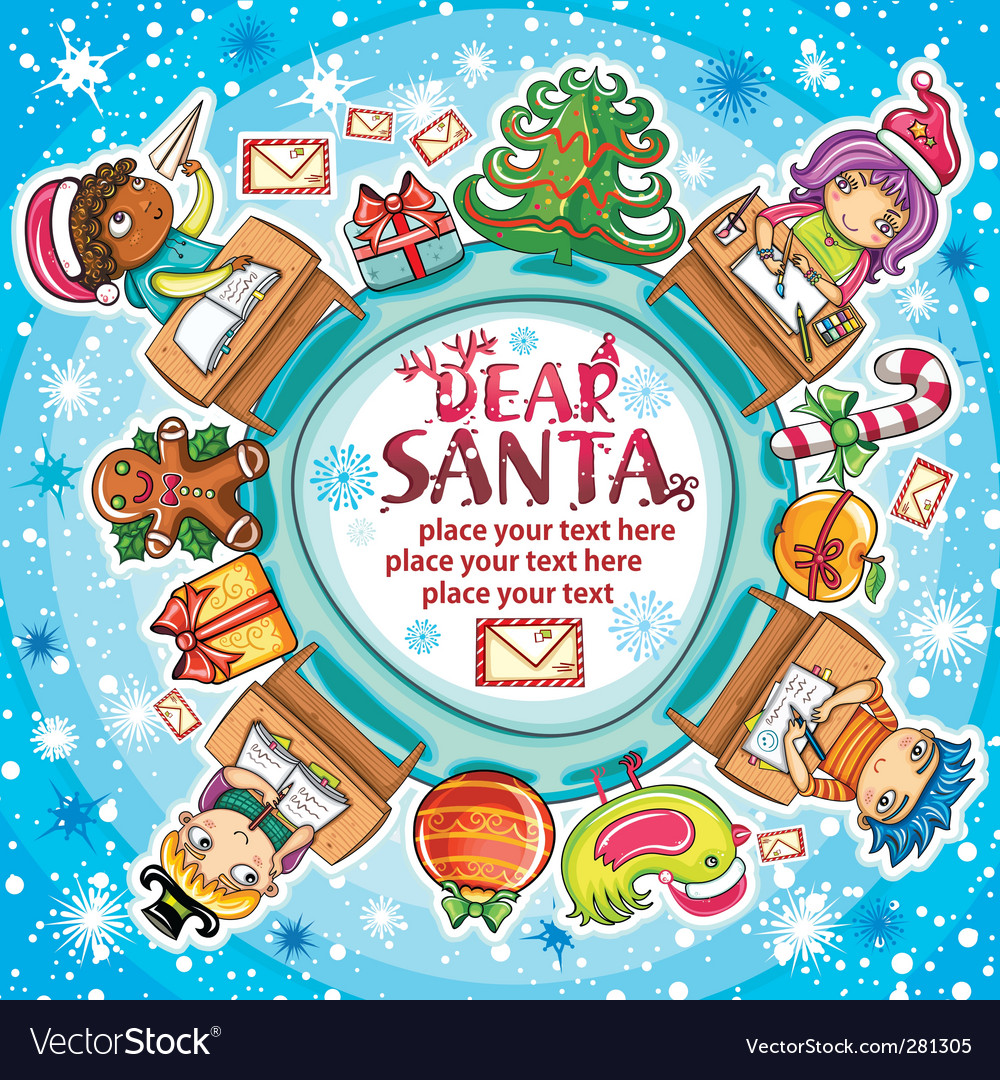 Letter to santa series vector | Price: 3 Credit (USD $3)