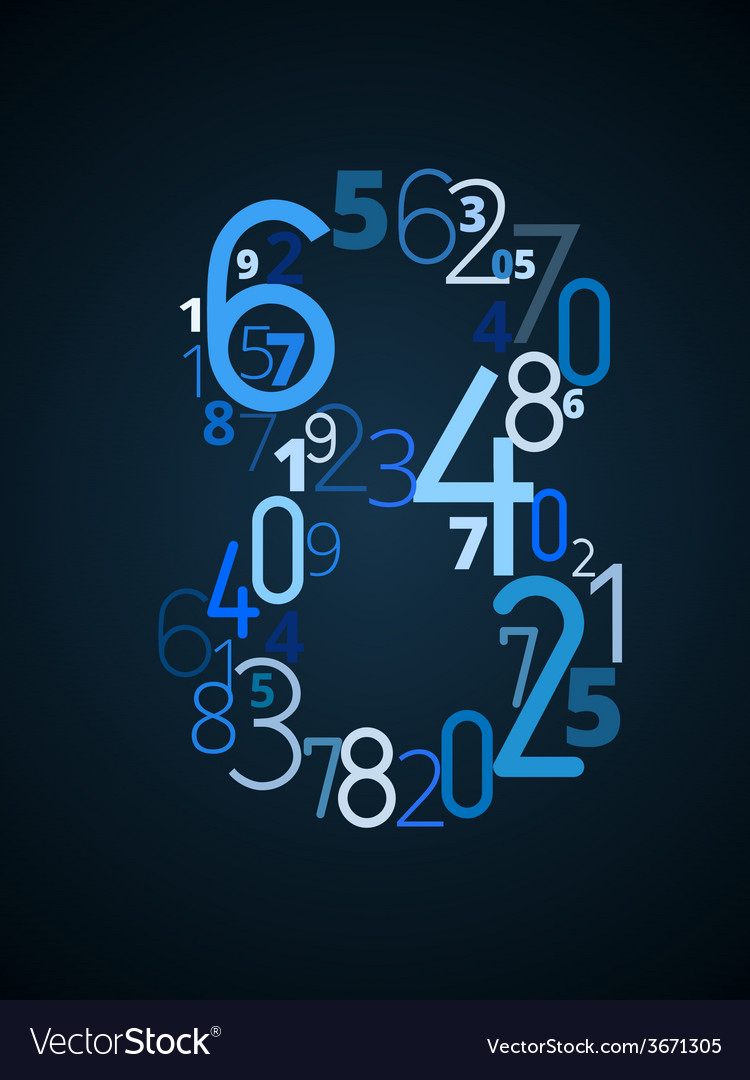 Number 8 font from numbers vector | Price: 1 Credit (USD $1)