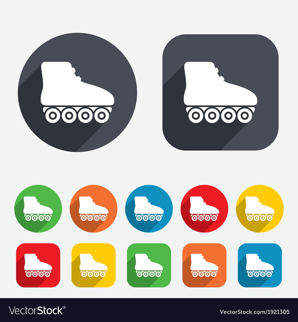 Roller skates sign icon rollerblades symbol vector | Price: 1 Credit (USD $1)