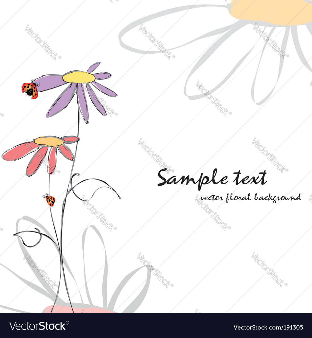 Spring summer floral vector | Price: 1 Credit (USD $1)