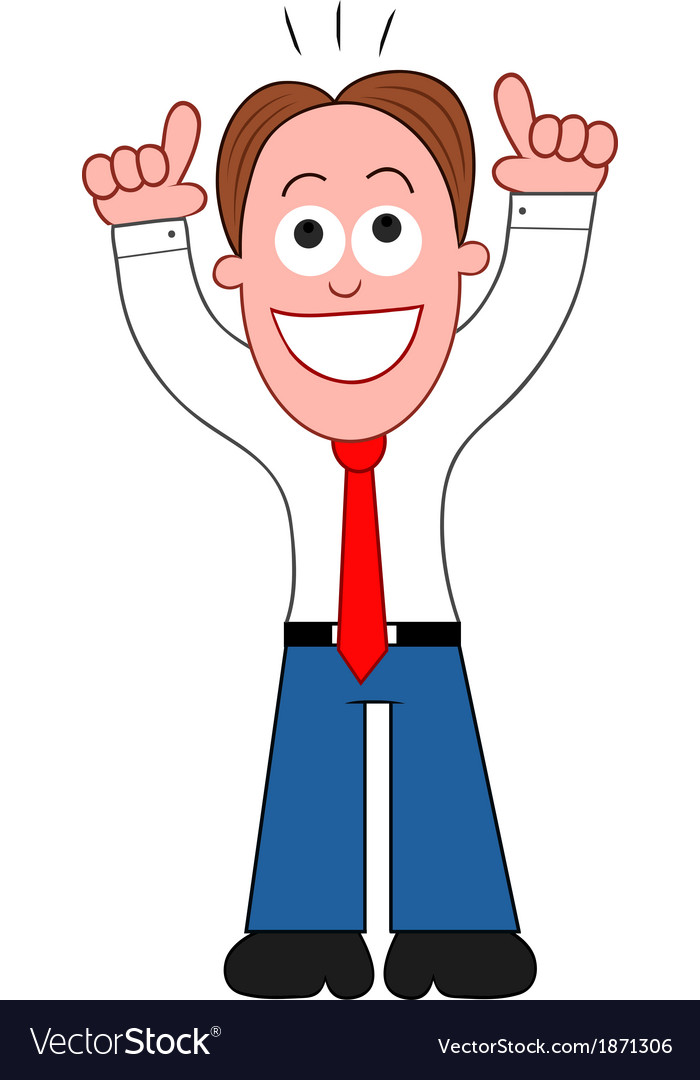 Businessman happy and thanking god vector | Price: 1 Credit (USD $1)