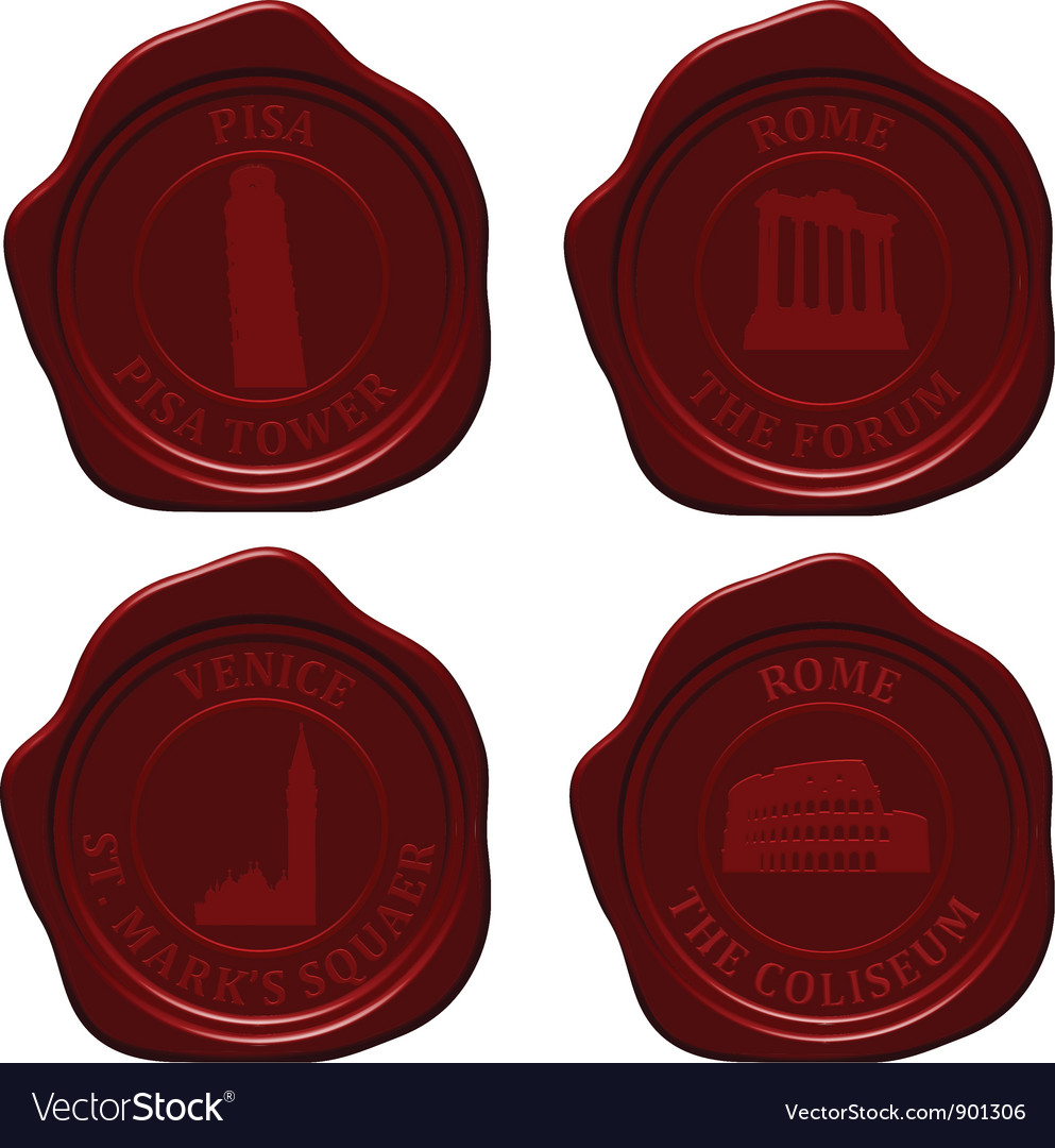 Italy sealing wax set vector | Price: 1 Credit (USD $1)