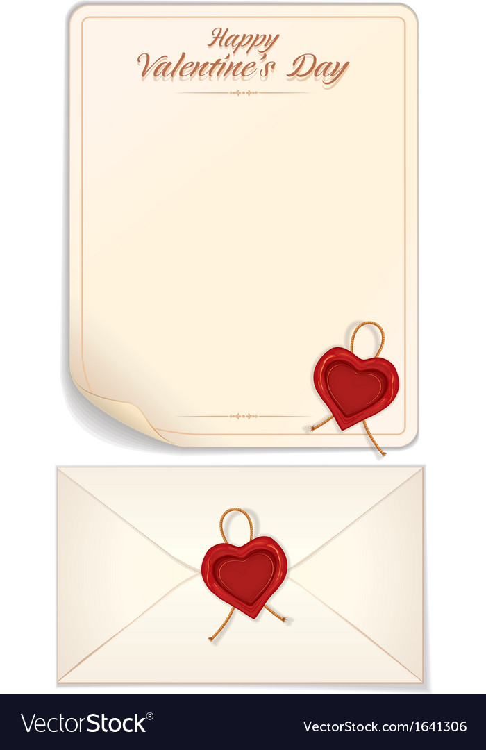 Valentine day love letter print template vector | Price: 1 Credit (USD $1)
