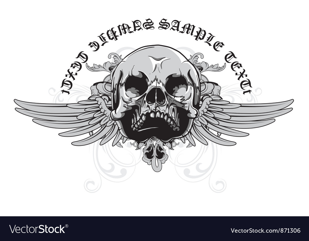 Vintage emblem with skull vector | Price: 1 Credit (USD $1)