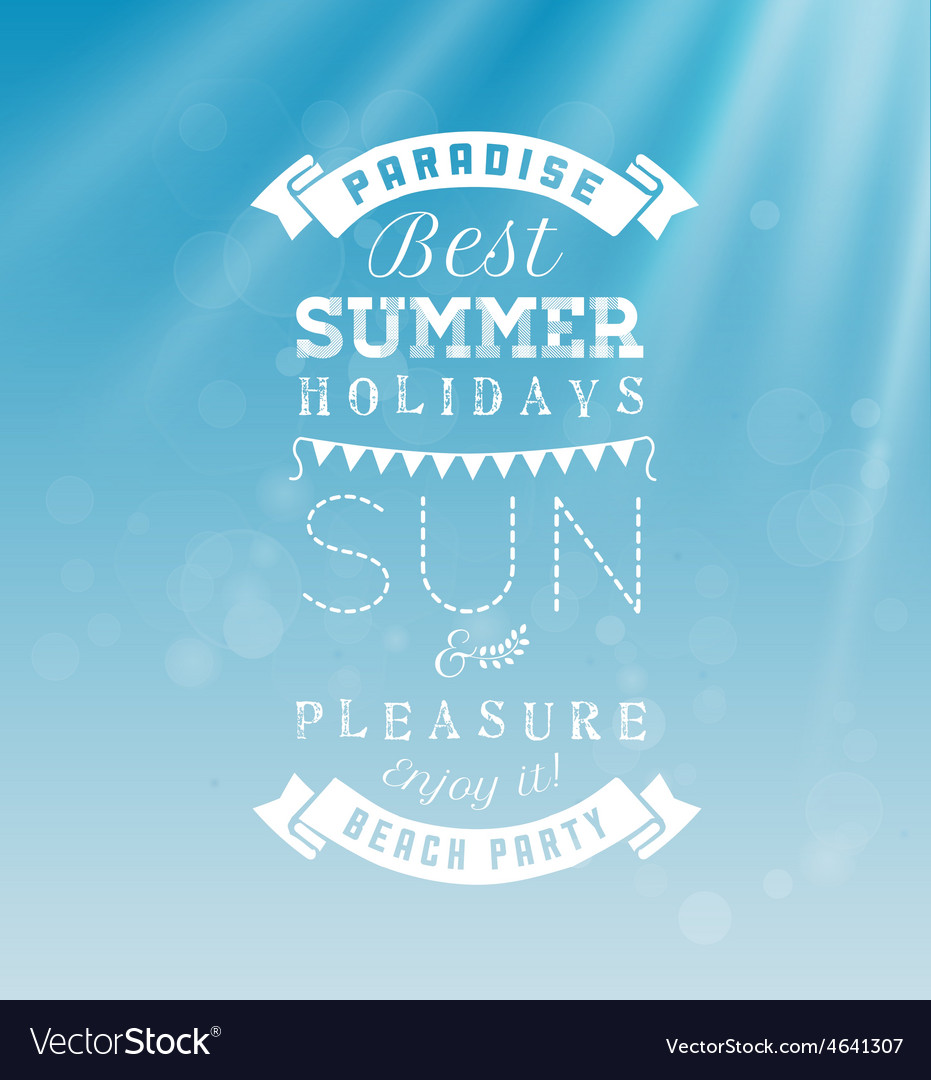 Best summer holidays - calligraphy design vector | Price: 1 Credit (USD $1)