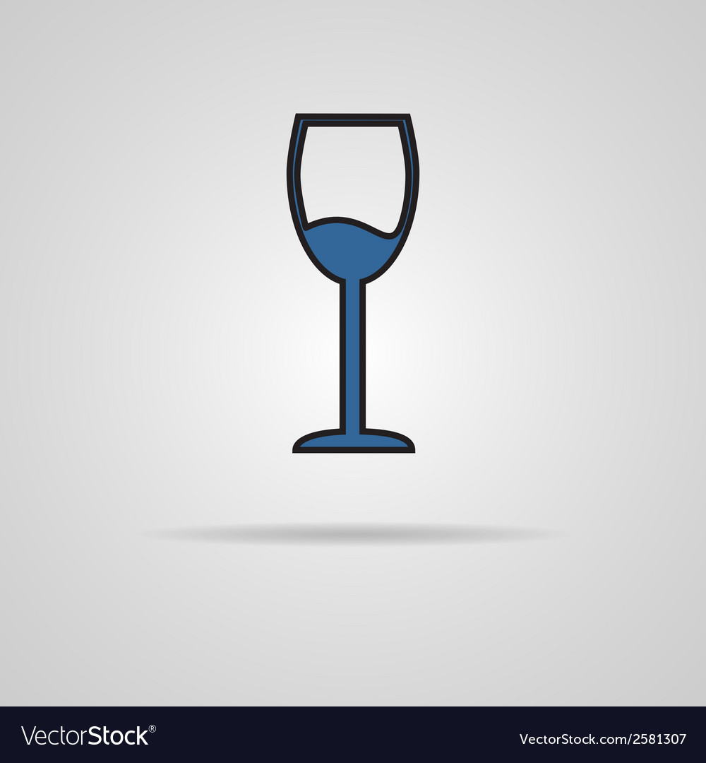 Glass of wine icon vector | Price: 1 Credit (USD $1)