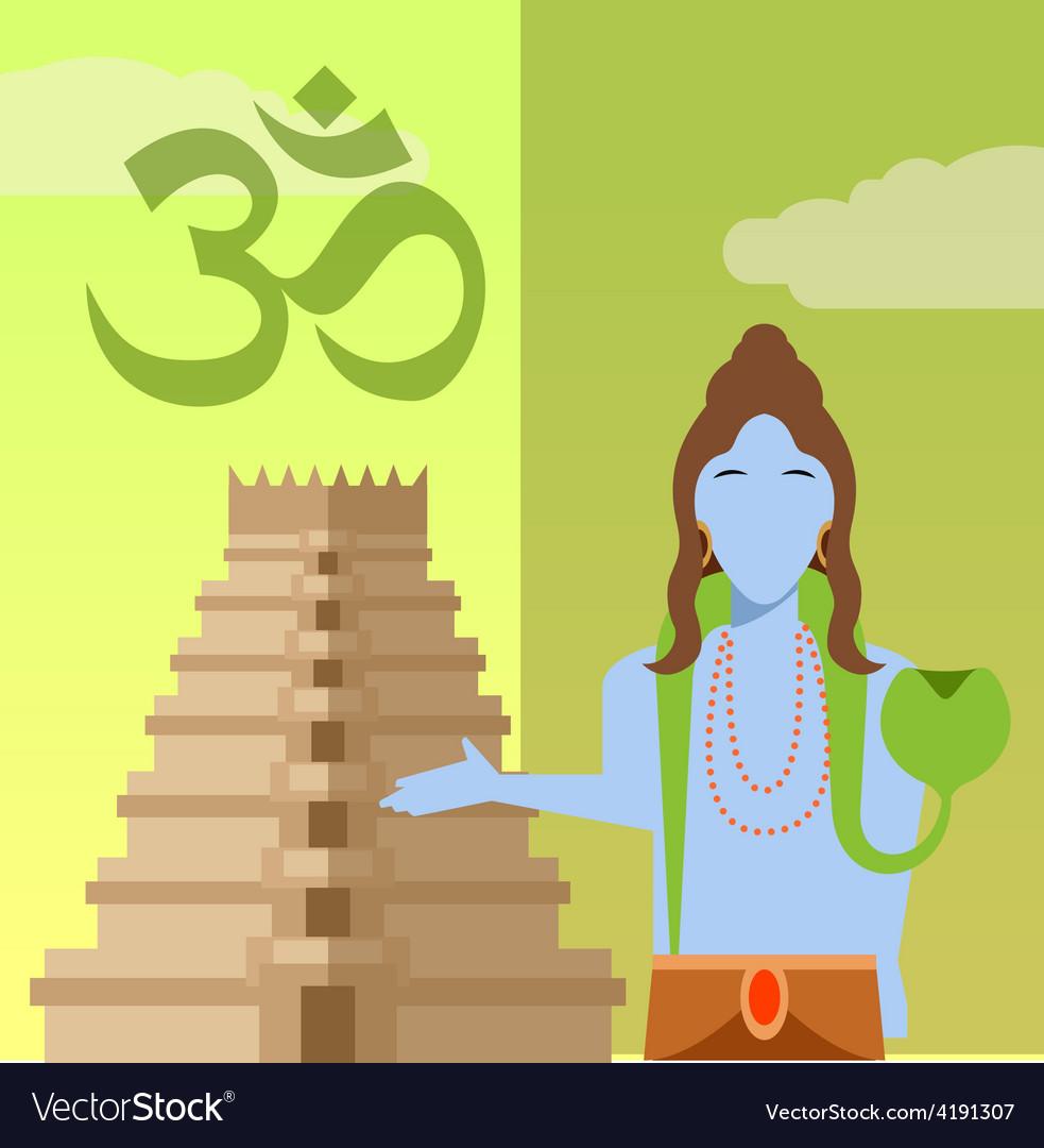Hindu flat icon2 vector | Price: 1 Credit (USD $1)