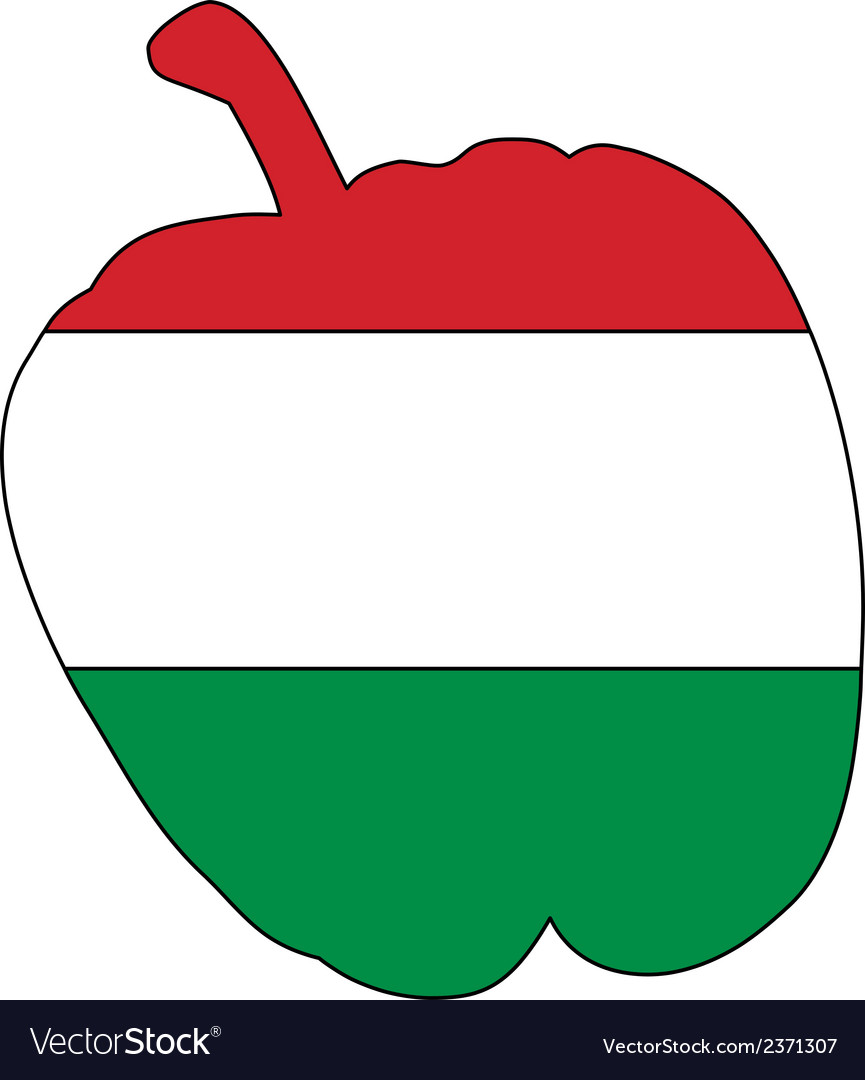 Hungarian pepper vector | Price: 1 Credit (USD $1)