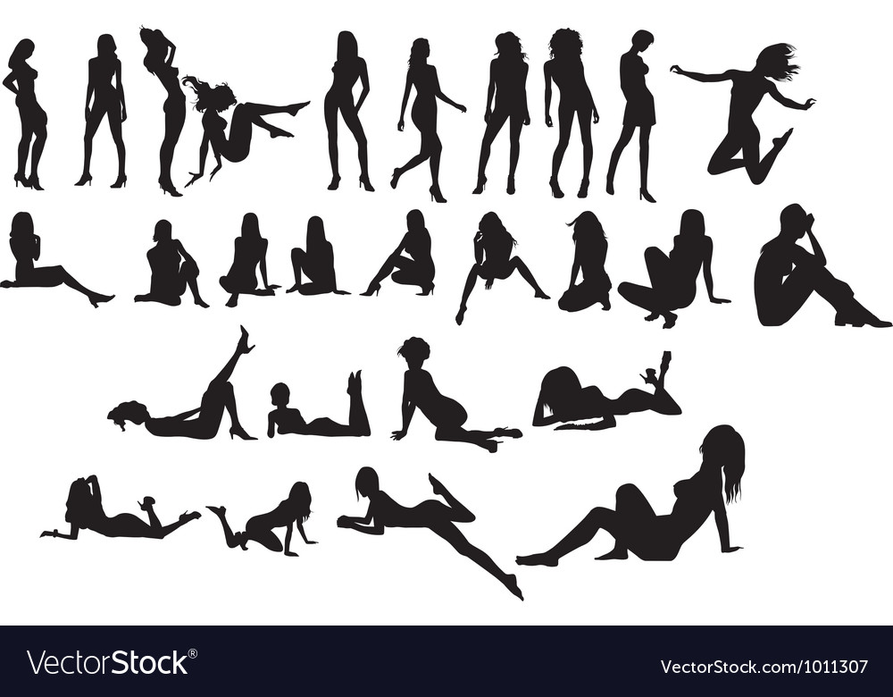 Nude silhouette vector | Price: 1 Credit (USD $1)