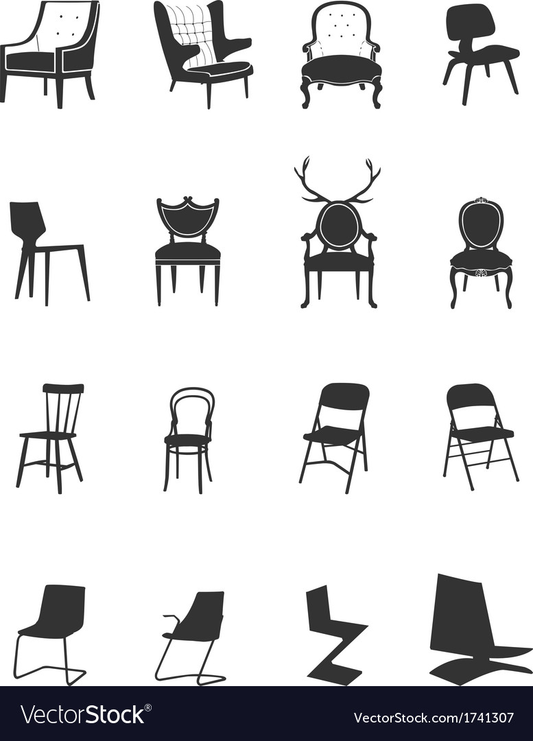 Silhouette-chairs vector | Price: 1 Credit (USD $1)