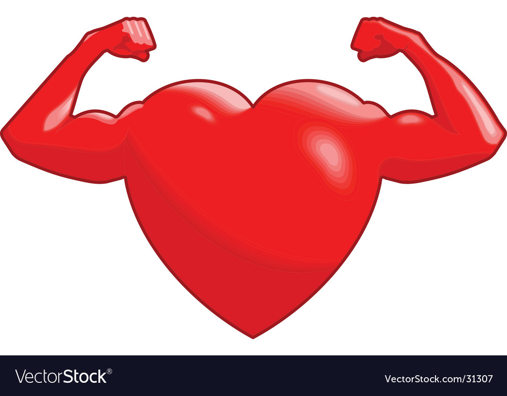 Strong heart vector | Price: 1 Credit (USD $1)