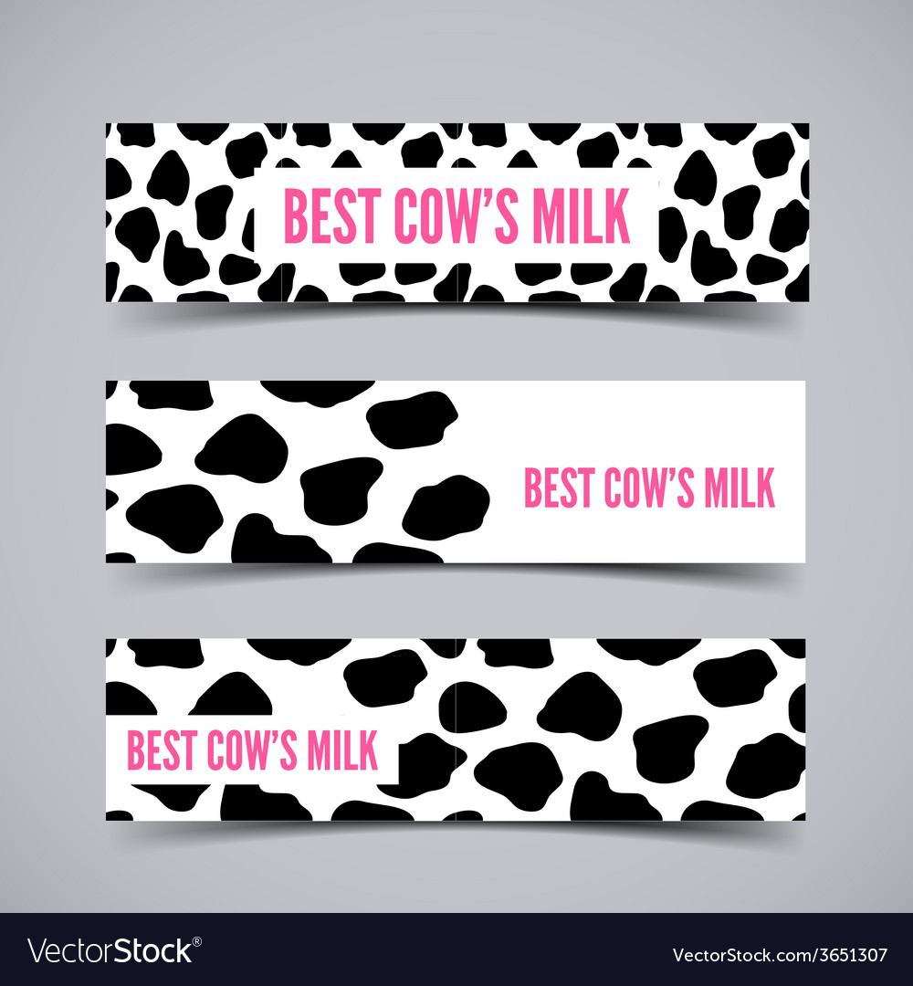 Three cow skin banner vector | Price: 1 Credit (USD $1)
