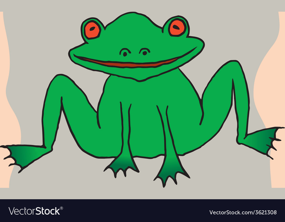 A drawing of a frog vector | Price: 1 Credit (USD $1)