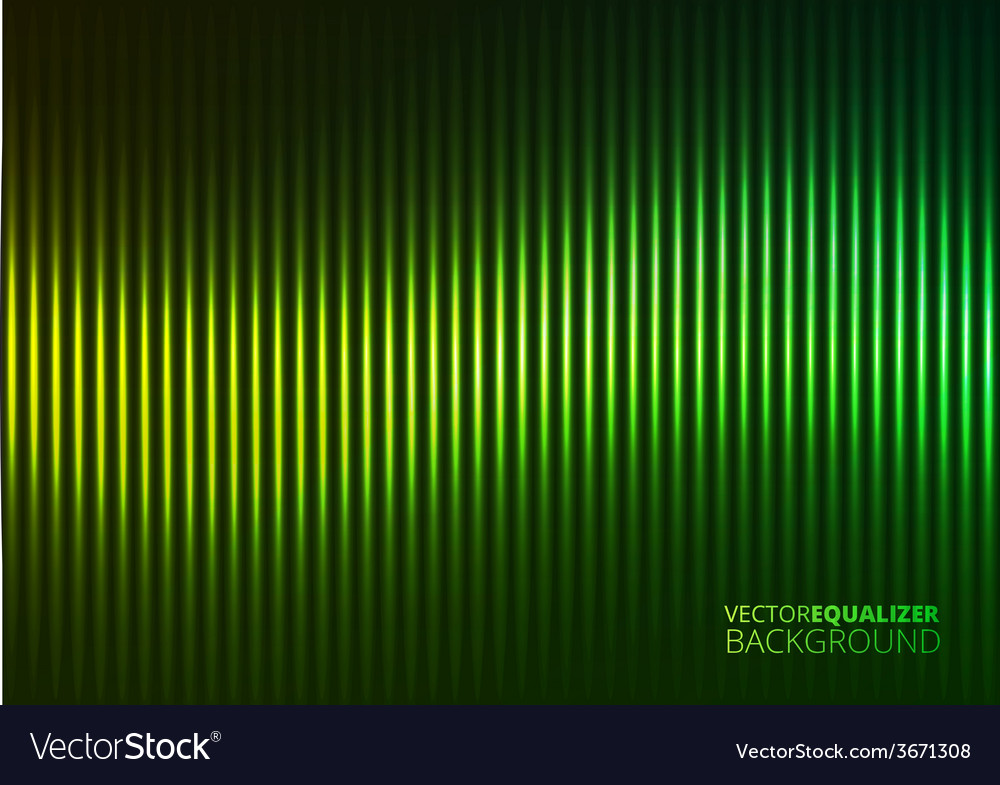 A green music equalizer vector | Price: 1 Credit (USD $1)