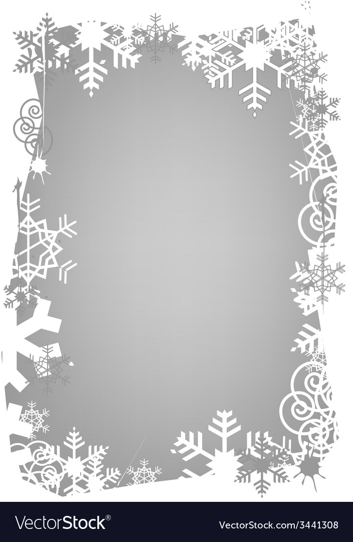 Christmas snowflakes grunge frame vector | Price: 1 Credit (USD $1)