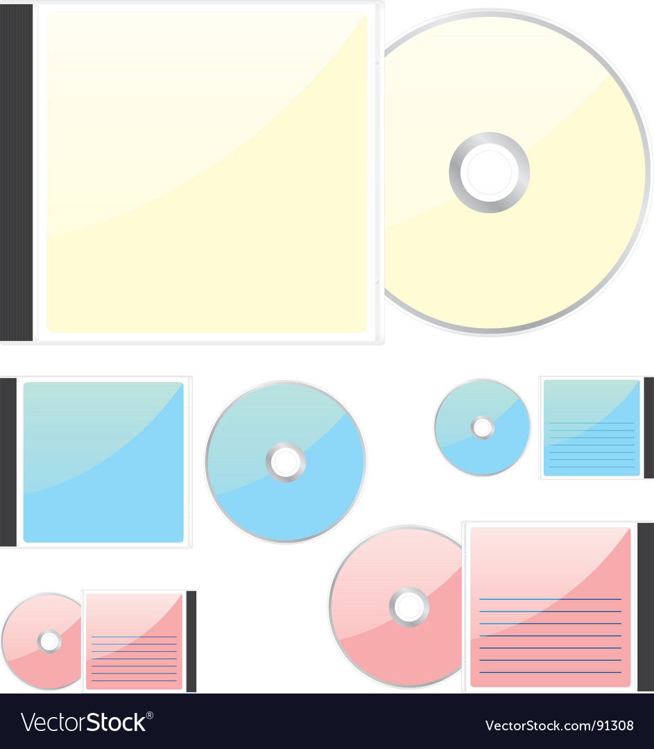 Compact disks vector | Price: 1 Credit (USD $1)