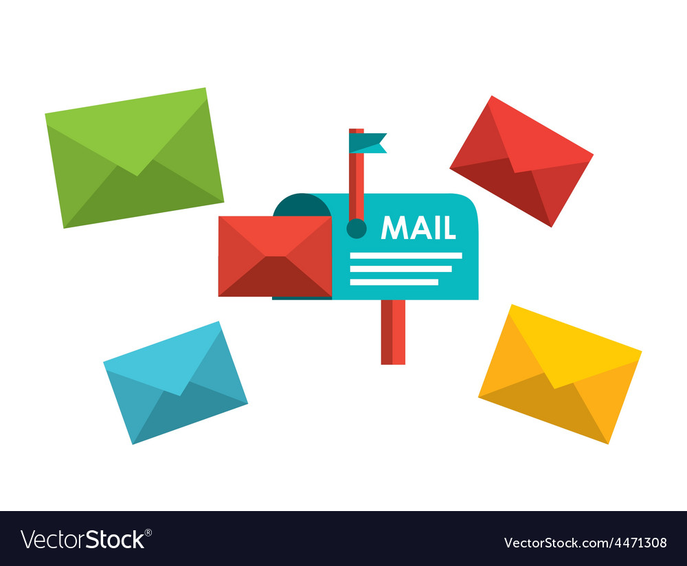 E-mail concept vector | Price: 1 Credit (USD $1)