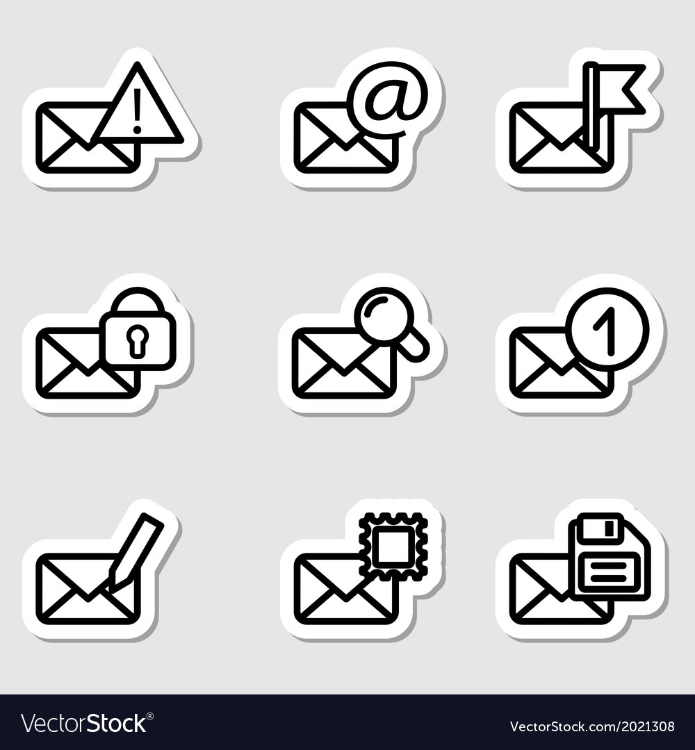 Envelopes icons as labels vol2 vector | Price: 1 Credit (USD $1)
