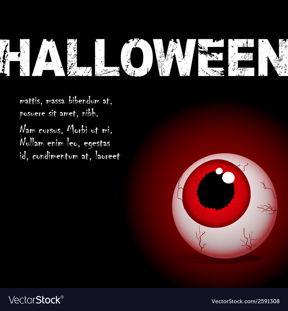 Halloween eyeball vector | Price: 1 Credit (USD $1)