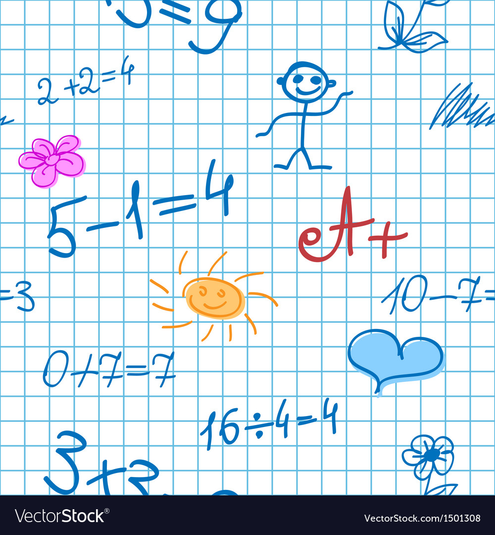 Maths doodle note background vector | Price: 1 Credit (USD $1)