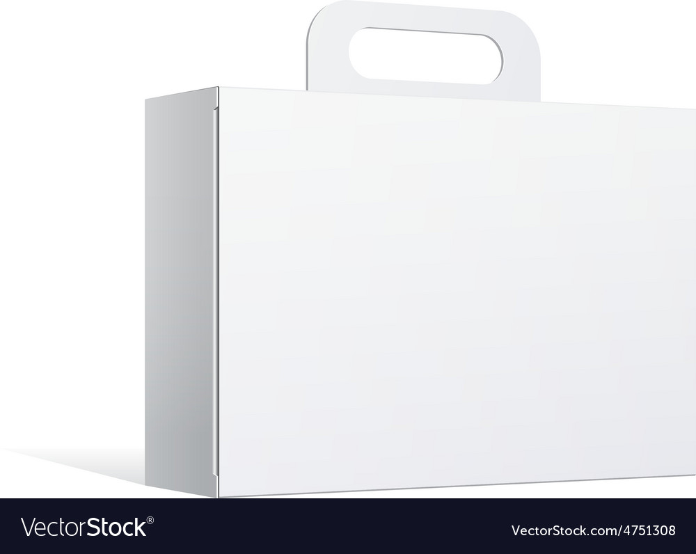 Package cardboard box with a handle vector | Price: 1 Credit (USD $1)