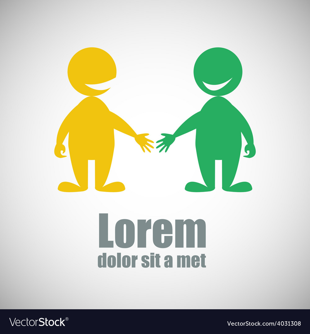 Partnership logo vector | Price: 1 Credit (USD $1)
