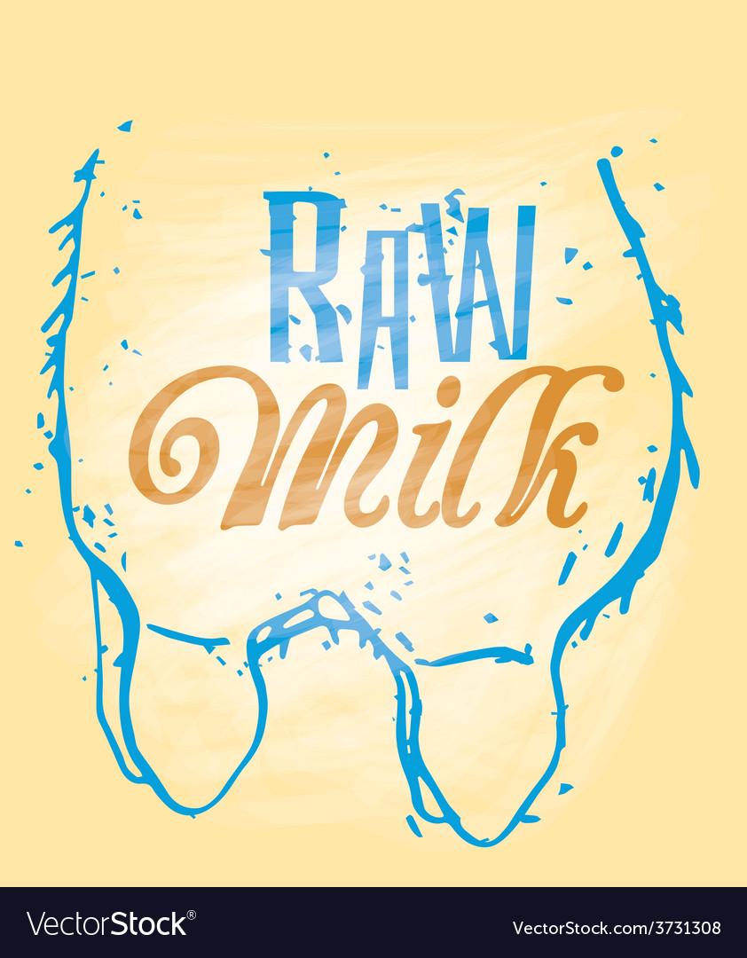 Raw milk vector | Price: 1 Credit (USD $1)