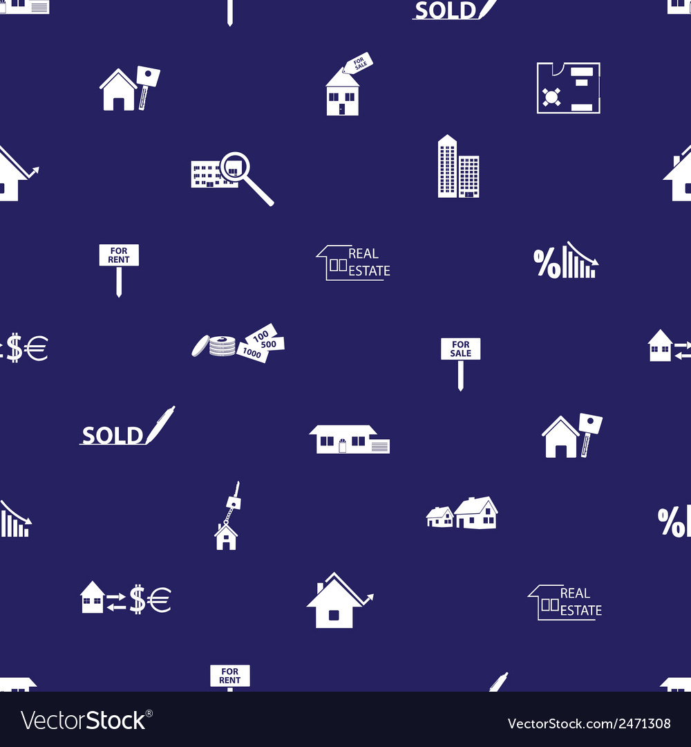 Real estate blue pattern eps10 vector | Price: 1 Credit (USD $1)
