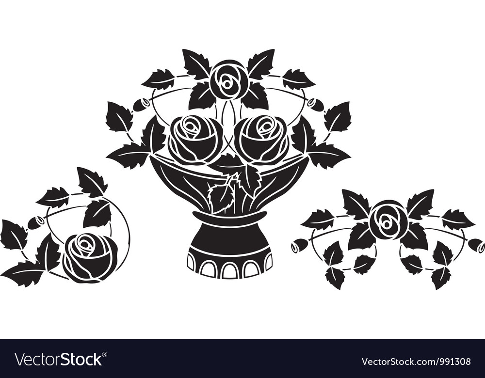 Rose stencil vector | Price: 1 Credit (USD $1)