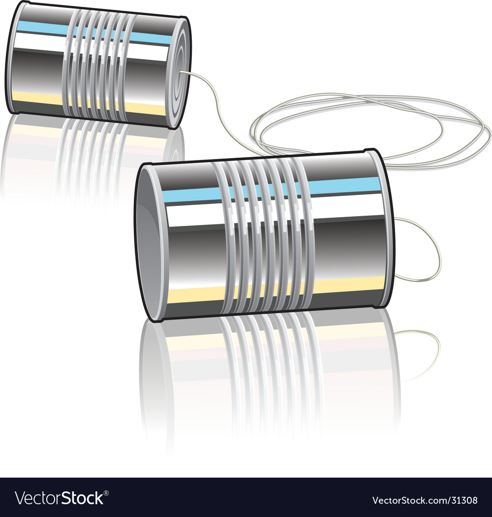Tin can telephone vector | Price: 1 Credit (USD $1)