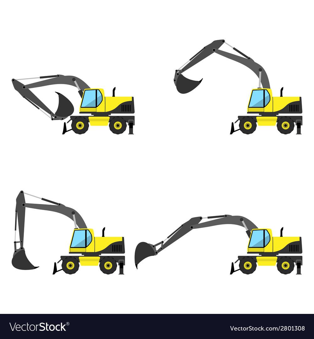 Wheel excavator vector | Price: 1 Credit (USD $1)