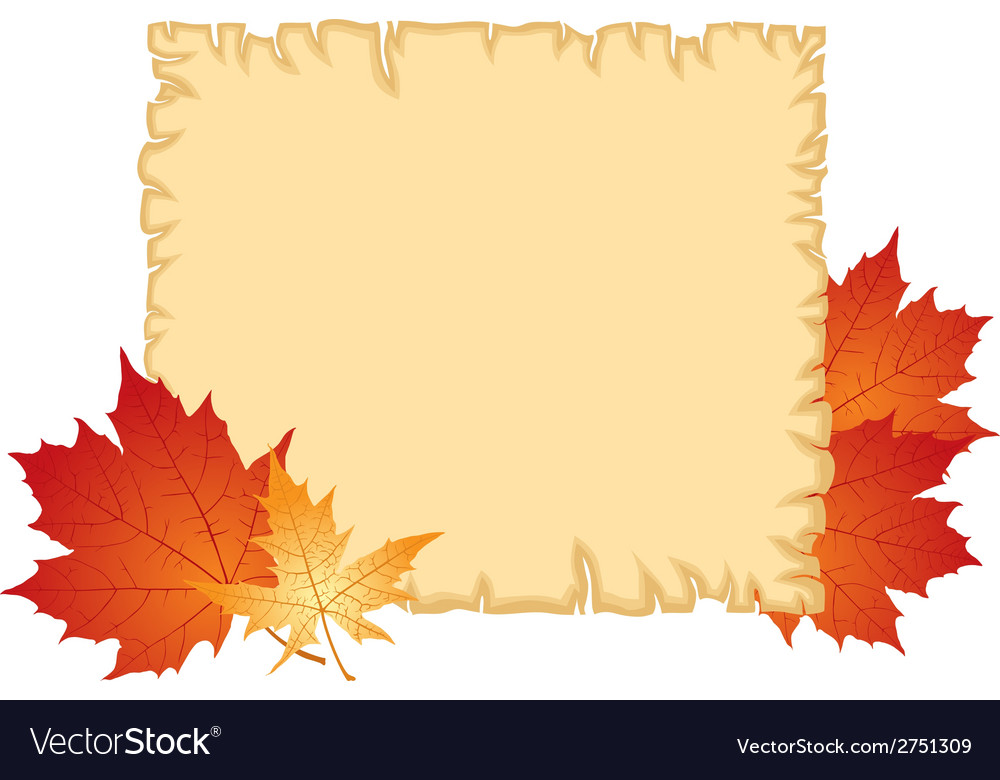 Autumn paper vector | Price: 1 Credit (USD $1)