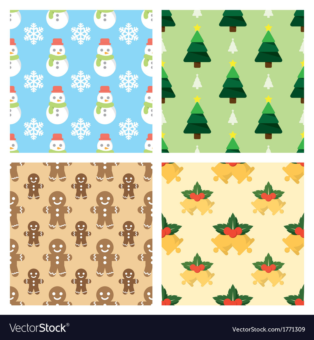 Christmas pattern background vector | Price: 1 Credit (USD $1)