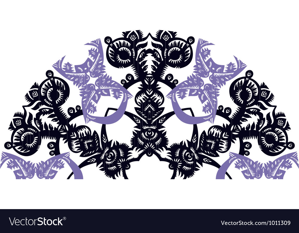 Decorative fan vector