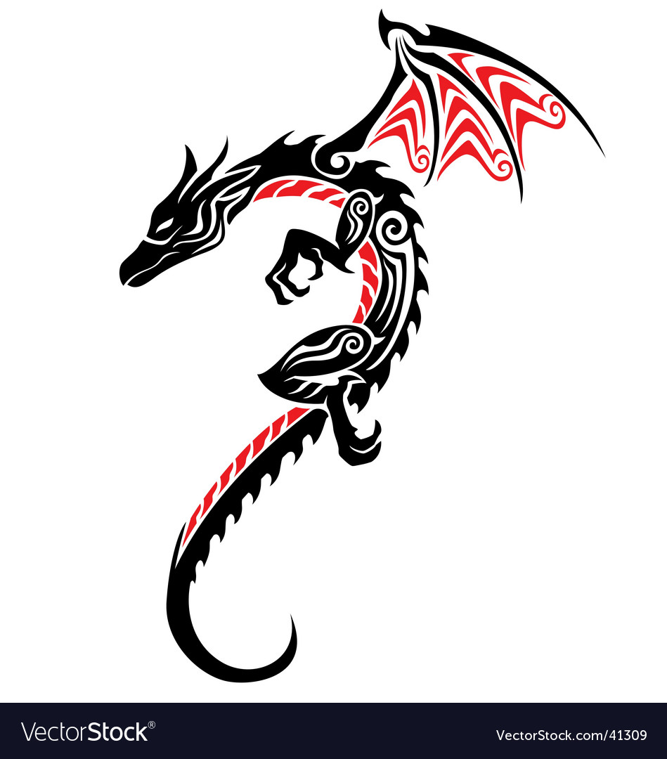 Dragon tattoo vector | Price: 1 Credit (USD $1)