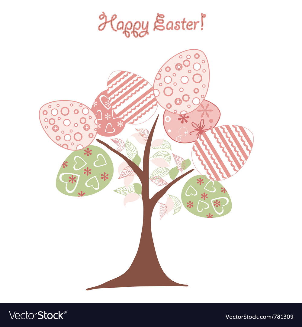 Easter background tree vector | Price: 1 Credit (USD $1)