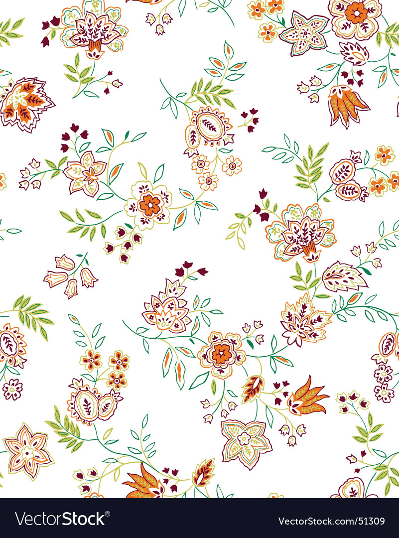 Floral print design vector | Price: 1 Credit (USD $1)