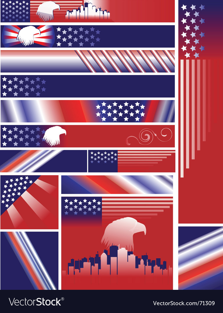 Independence day banners vector | Price: 1 Credit (USD $1)