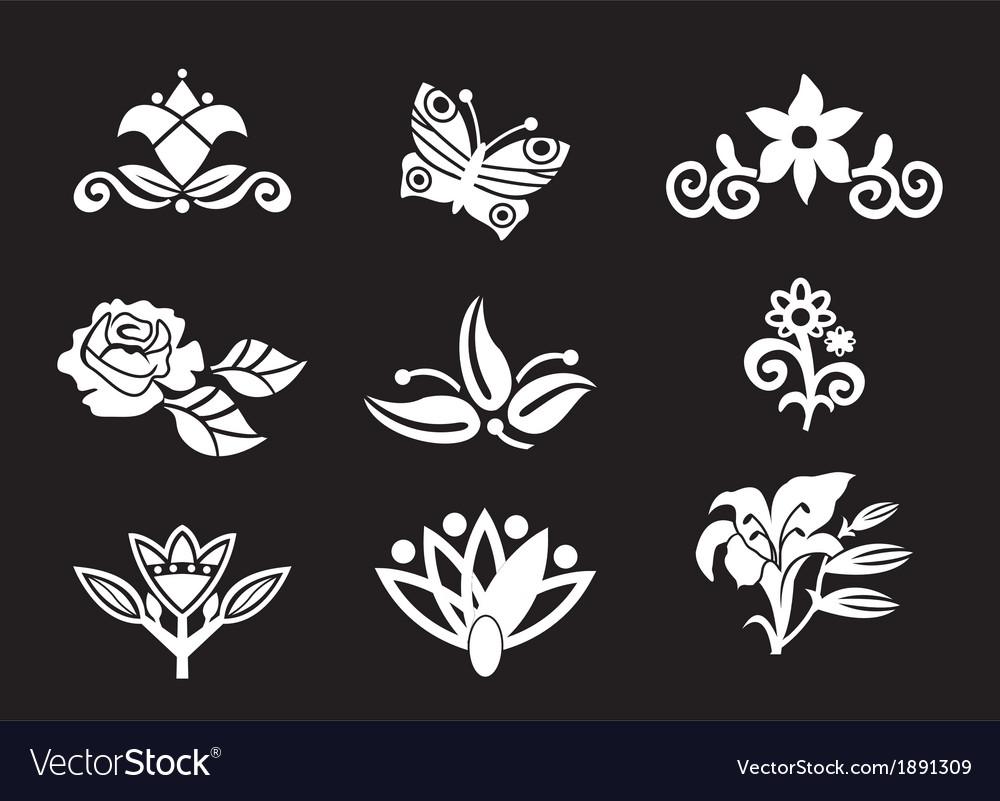 Nice floral set vector | Price: 1 Credit (USD $1)