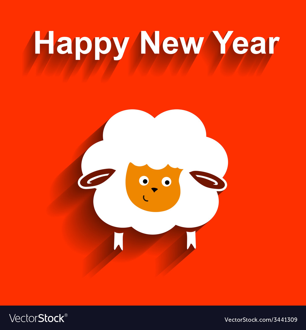 Symbol of 2015 sheep element for new years design vector | Price: 1 Credit (USD $1)