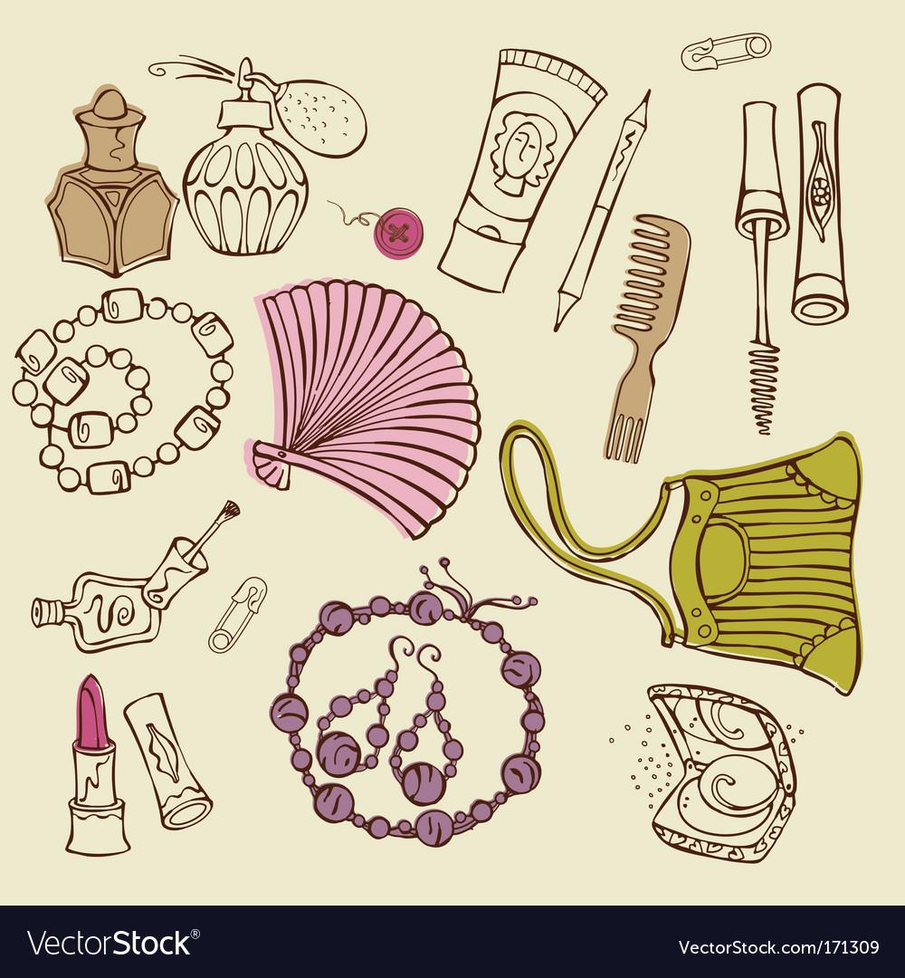 Women accessories vector | Price: 1 Credit (USD $1)