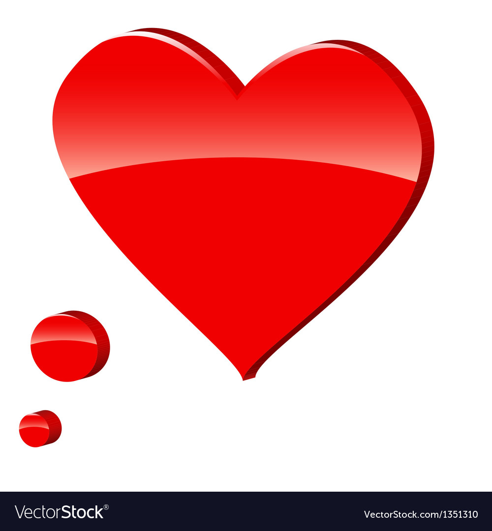 3d heart symbol vector | Price: 1 Credit (USD $1)