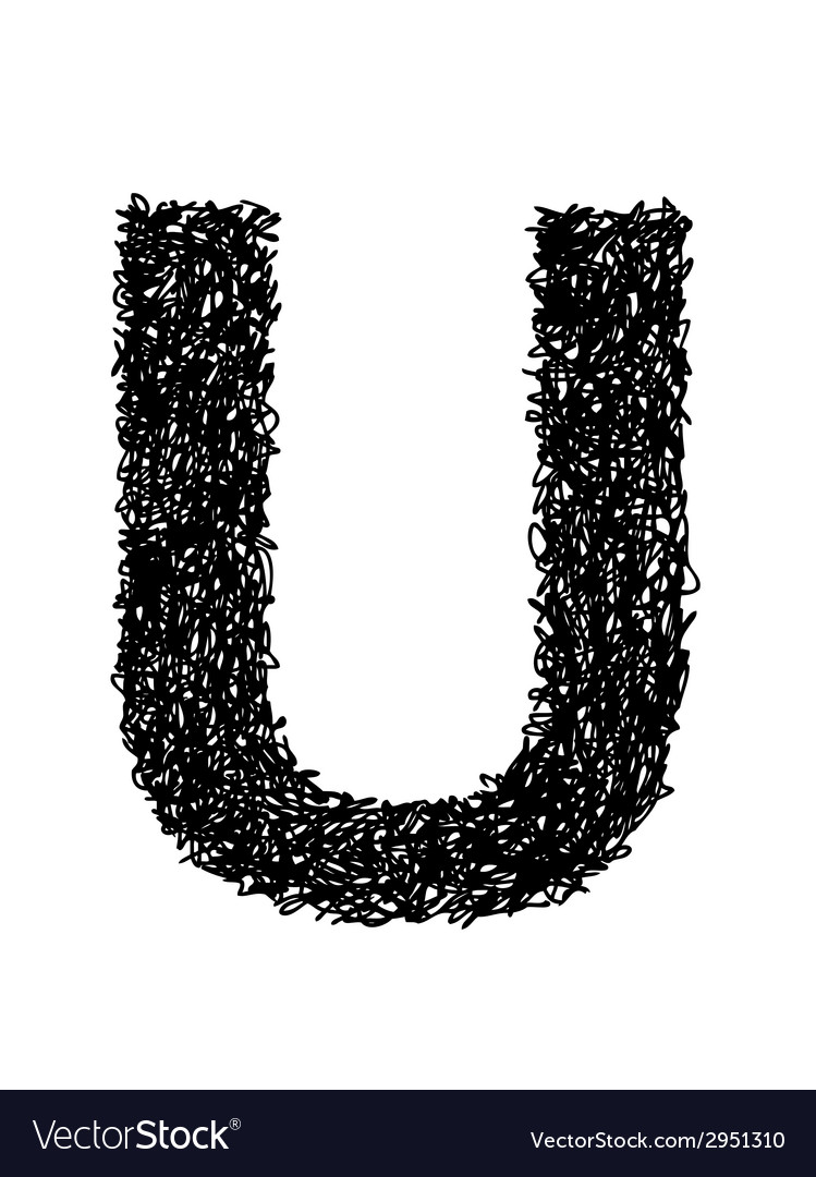 Alphabet u vector | Price: 1 Credit (USD $1)