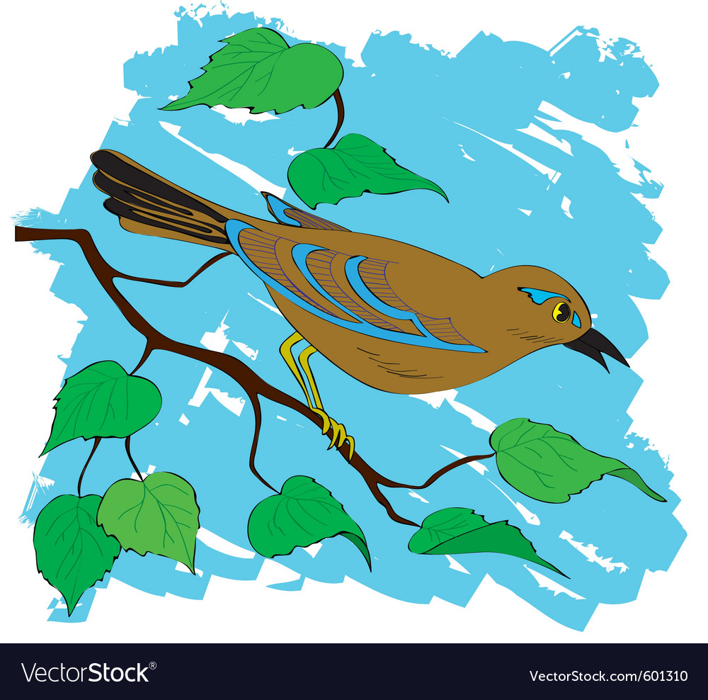 Bird painting vector | Price: 1 Credit (USD $1)