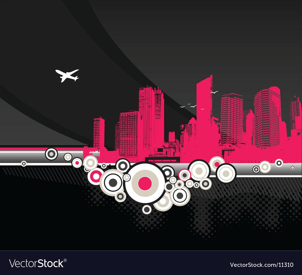 City pink vector | Price: 1 Credit (USD $1)