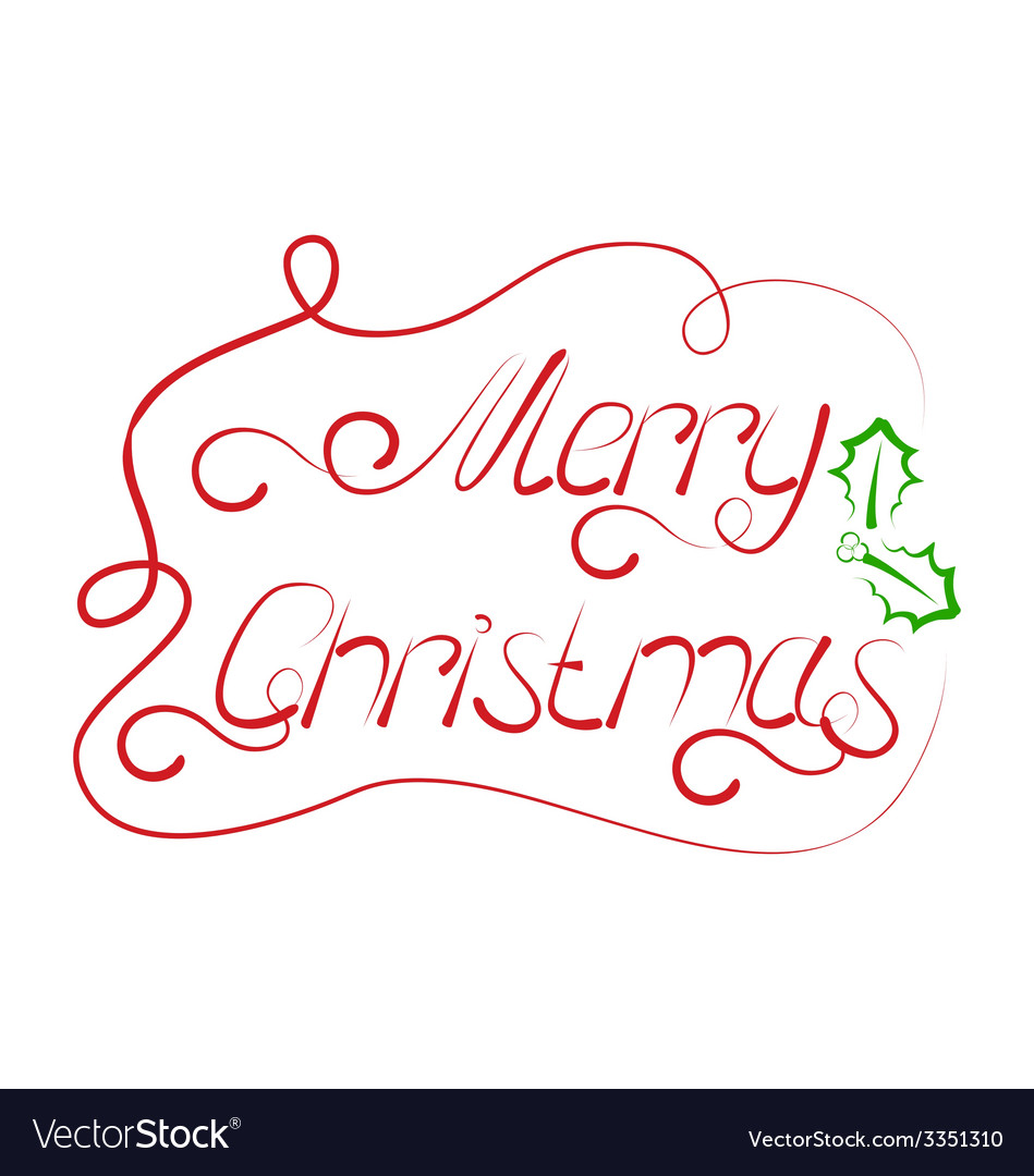 Cute christmas lettering handmade calligraphy - vector | Price: 1 Credit (USD $1)