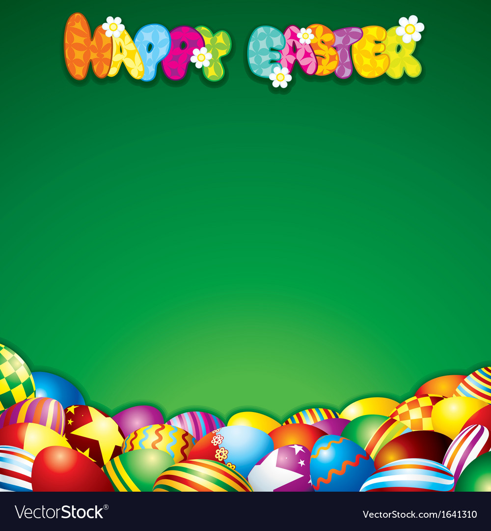Easter background with colorful painted eggs vector   Price: 1 Credit (USD $1)