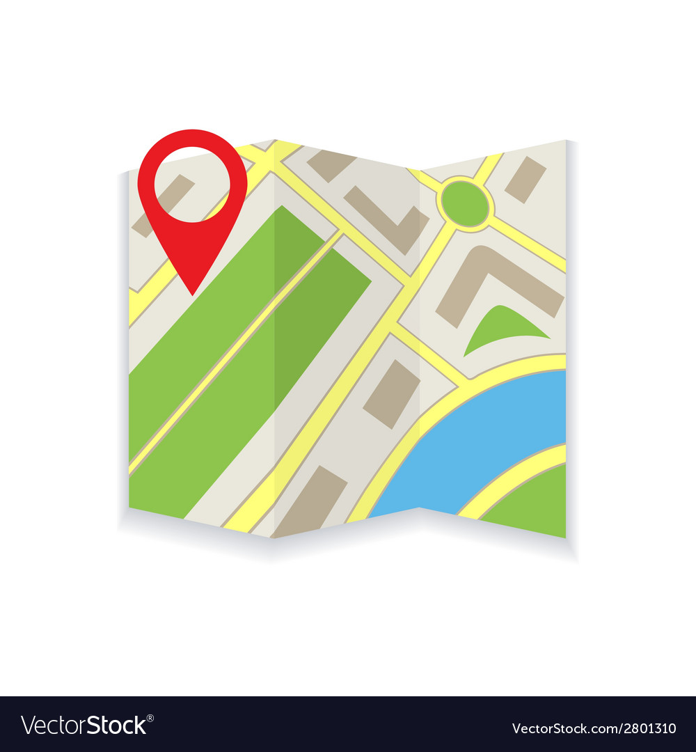 Icon foldable maps vector | Price: 1 Credit (USD $1)